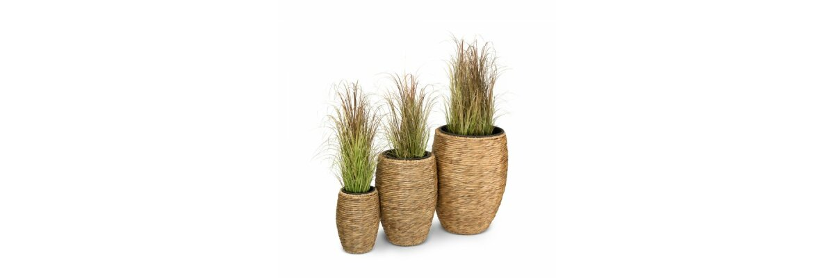 Pflanzkübel aus Wasserhyazinthe - Pflanz- und Blumenkübel aus Wasserhyazinthe