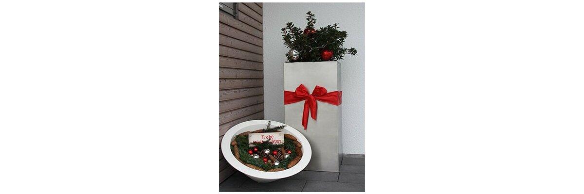 Wir wünschen frohe Weihnachten und einen guten Rutsch - Der Pflanzkübel-Shop wünscht frohe Weihnachten