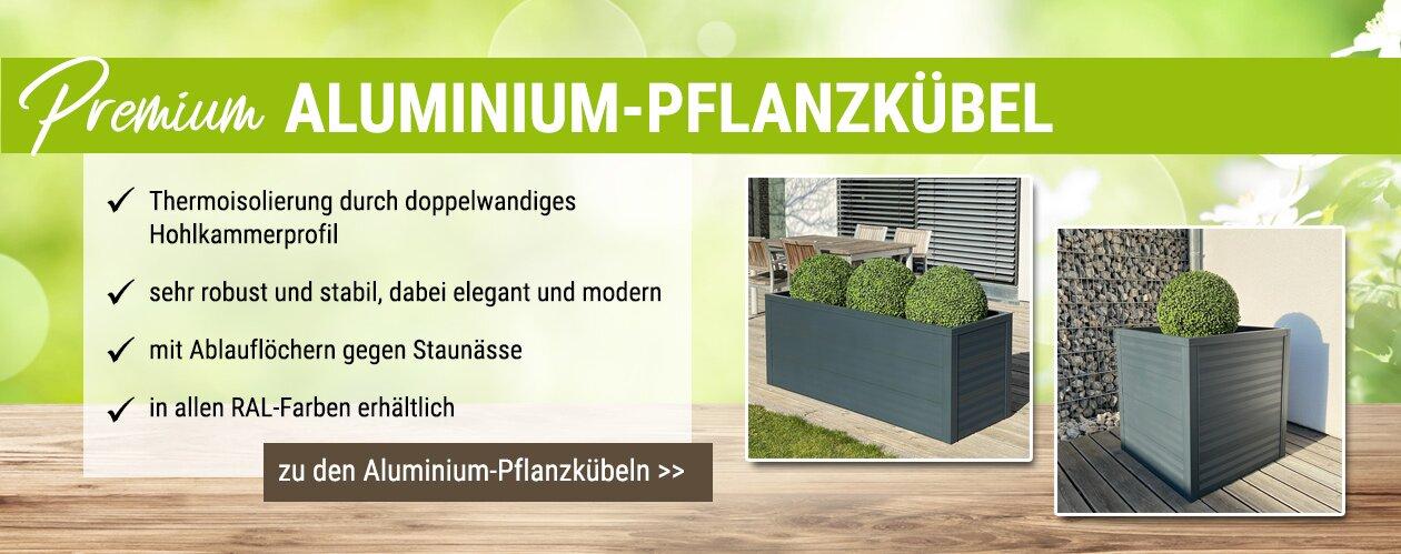 Premium Aluminium Pflanzkübel