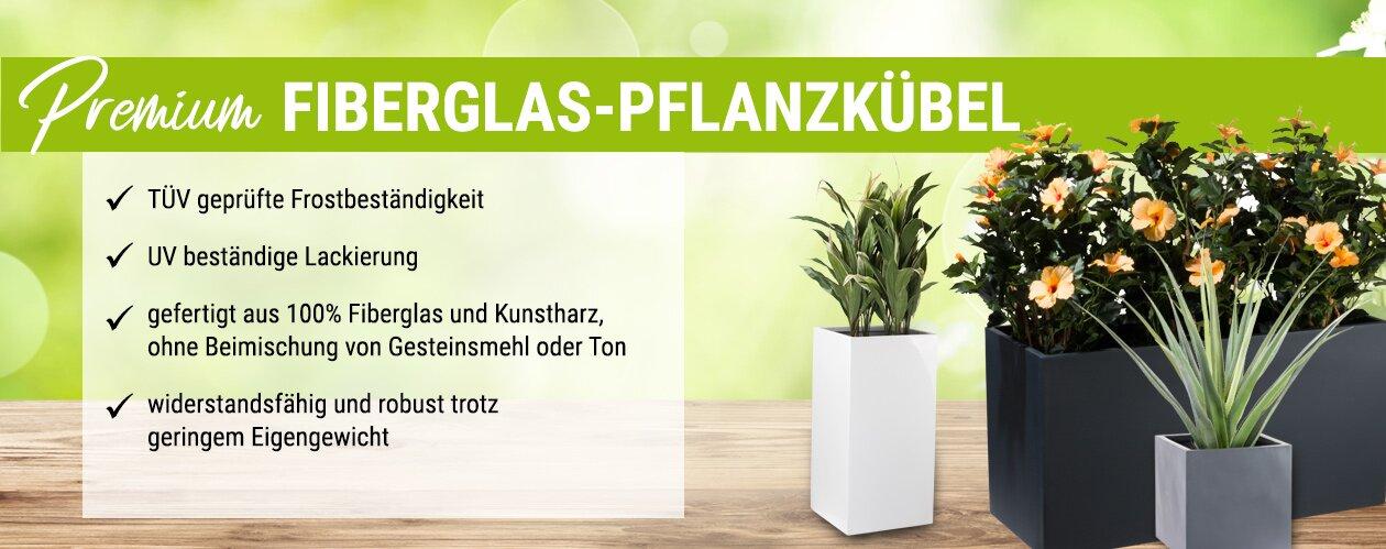 Premium Fiberglas-Pflanzkübel