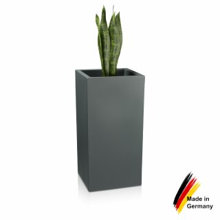 Pflanzkübel TORRE 80 Kunststoff basaltgrau matt