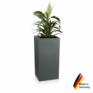 Kunststoff Blumenkübel TORRE 80 Pflanzbehälter basaltgrau