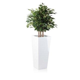 Pflanzkübel LAVIA 90 Fiberglas weiß hochglanz