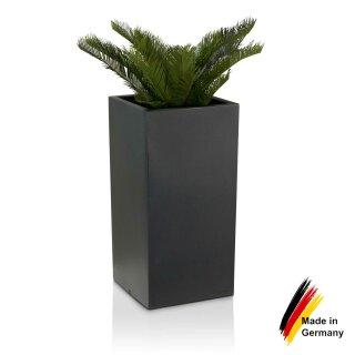 Fabulous Kunststoff Blumenkübel TORRE 80 Pflanzbehälter anthrazit MO33
