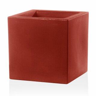 Pflanzkübel CUBO 30 Kunststoff rot matt