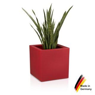 Blumenkübel CUBO 50 Kunststoff rot matt