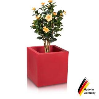 Pflanzkübel CUBO 60 Kunststoff rot matt