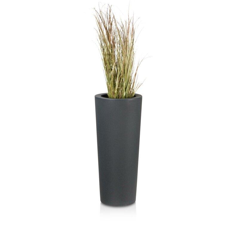 blumentopf kunststoff anthrazit rund cono 68 pflanzk bel. Black Bedroom Furniture Sets. Home Design Ideas