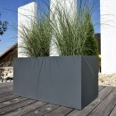 Pflanztrog VISIO 50 Fiberglas grau matt