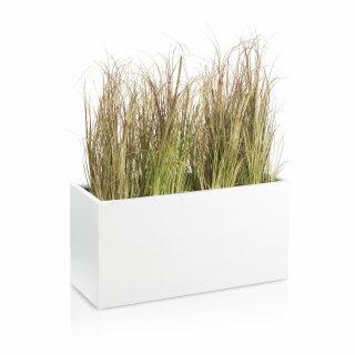 Pflanztrog VISIO 40 Fiberglas weiß matt